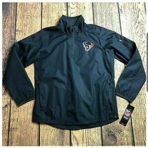 NFL 1/4 Quarter Zip Houston Texans Windbreaker, YM